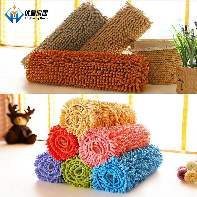 Carpets Chenille Absorbent Non-Slip Bathroom Kitchen Floor Mats Living Room Carpet Plush Bedroom Rug