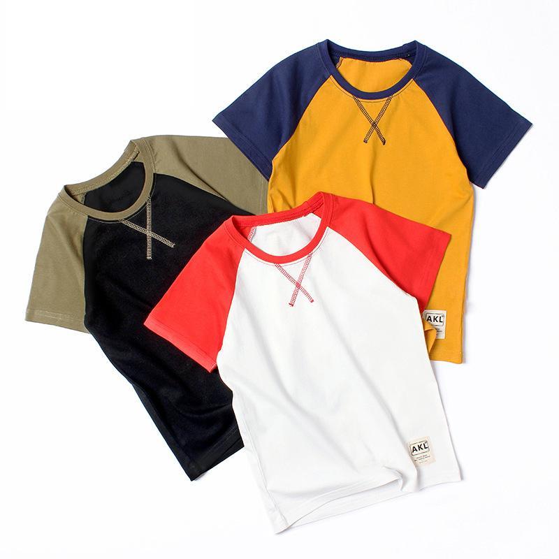 T-shirt estiva Abbigliamento per bambini Abbigliamento per bambini Boys Felpe Maglietta T-shirt bambino in cotone manica corta Tees Girl Tops