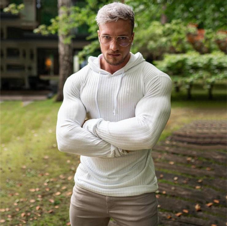 Sweats à capuche Sweats à capuche Hommes chauds Turtleneck Sweaters Slim Fit Pullover Classic Sweter Knitwear Pull Homme