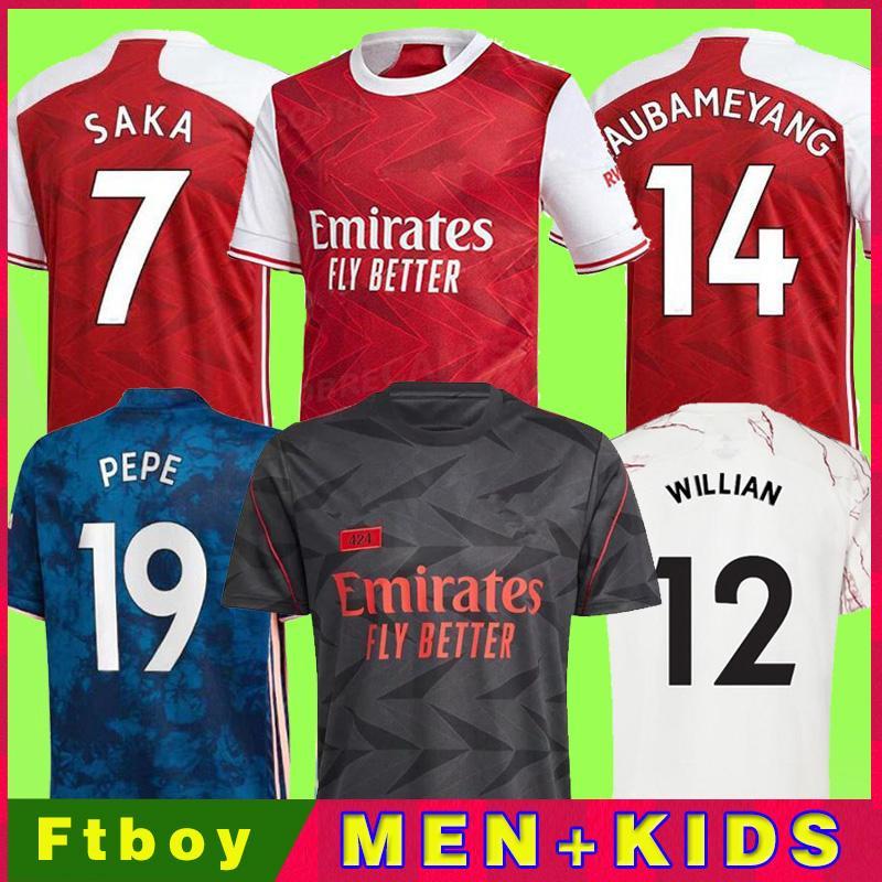 مراوح المشغل الإصدار 424 Gunners Arsen Soccer Jersey 20 21 Odegaard Pepe Saka Nicolas Tierney Henry Willian Mailes-Niles 2021 قمصان كرة القدم للأطفال