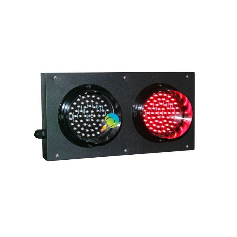 Custodia a piastra laminata a freddo 125mm Dual Color Red Green Parch Parcheggio LED Semaforo