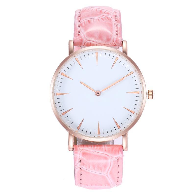 Pulso de pulso padrão de couro moderno relógio de couro de alta qualidade senhora Causal Quartz relógios relógios