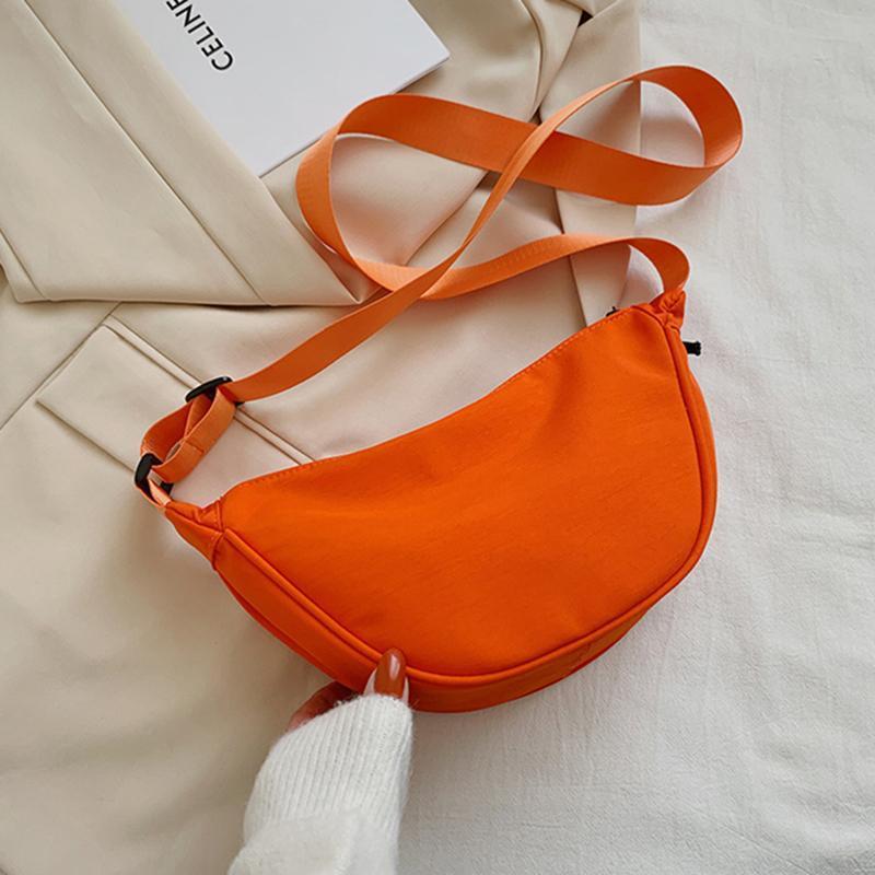 Chegada Nylon Bolsas De Ombro Para Mulheres Casual Crossbody Hobos Bag Embreagem Grande Capacidade Bolsa Bolsa Sólida Cor Corpo