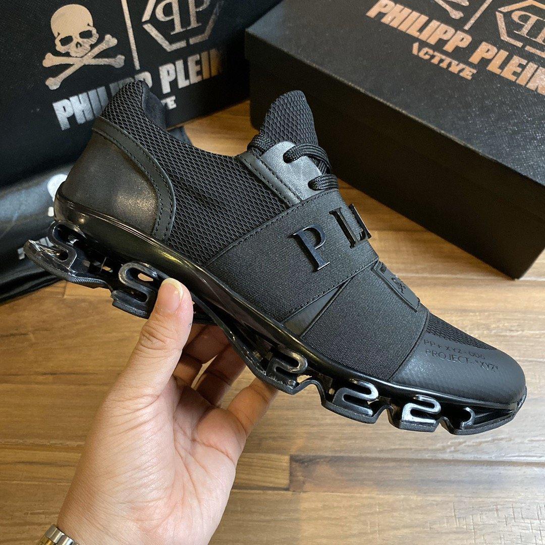 Philipp Plein PP 2021 erkek ayakkabı moda marka dantel up sneakers tasarımcı rahat üst lüks erkek ayakkabı orijinal ayakkabı kutusu