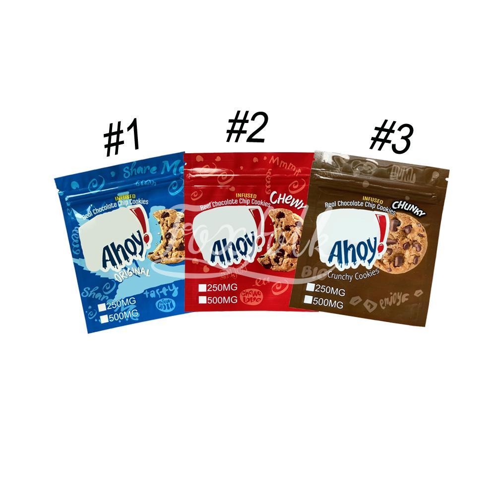 Gerçek Çikolata Chipcookies Paket Çanta Orijinal Crunchy Yemekleri Ambalaj Mylar Çanta 710 Ekşi Yenilebilir Chewy Kurabiye Koku Korumalı Kese Açma Fermuar Kilidi ile Koku