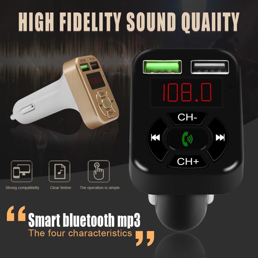 A9 Bluetooth Автомобильное зарядное устройство FM-передатчик с двойным USB-адаптером Handfree MP3-плеер Поддержка TF Card для iPhone Samsung Universal