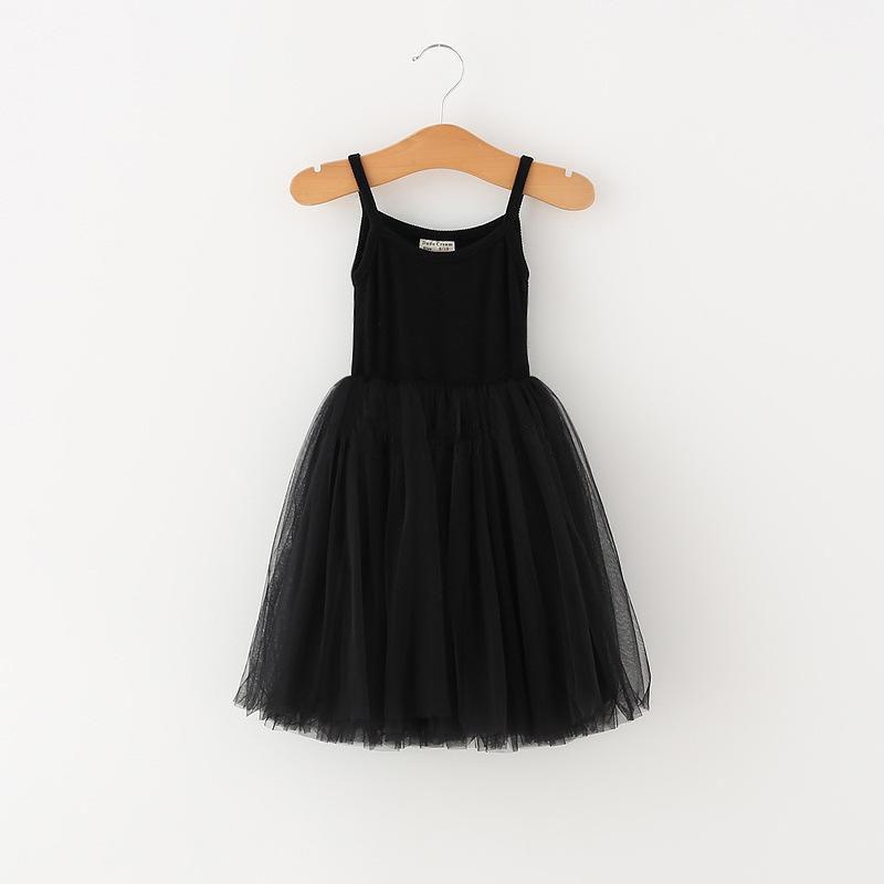 طفل الفتيات الدانتيل تول حبال اللباس الأطفال حمالة شبكة توتو الأميرة فساتين 2021 الصيف بوتيك الاطفال الملابس 4 ألوان C6257999