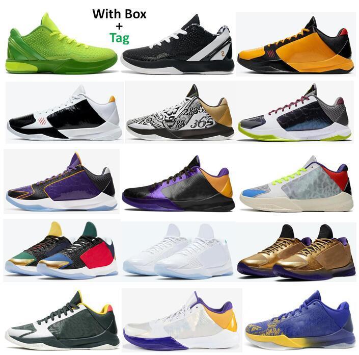 Mamba Zoom 5 Press Bruce Lee ماذا لو Lakers Tucker مرحلة كبيرة الفوضى حلقات emight المعدنية الذهب 6 جرينش مامبا للأي الأبد أحذية كرة السلة