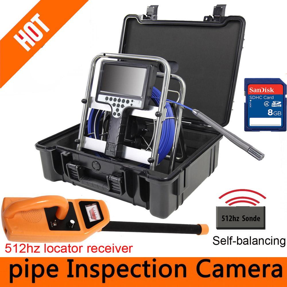 Telecamera di ispezione del tubo del tubo del tubo della fotocamera del tubo della fotocamera del tubo della fotocamera del tubo della fotocamera del tubo della fotocamera con 512hz e localizzatore di 512hz