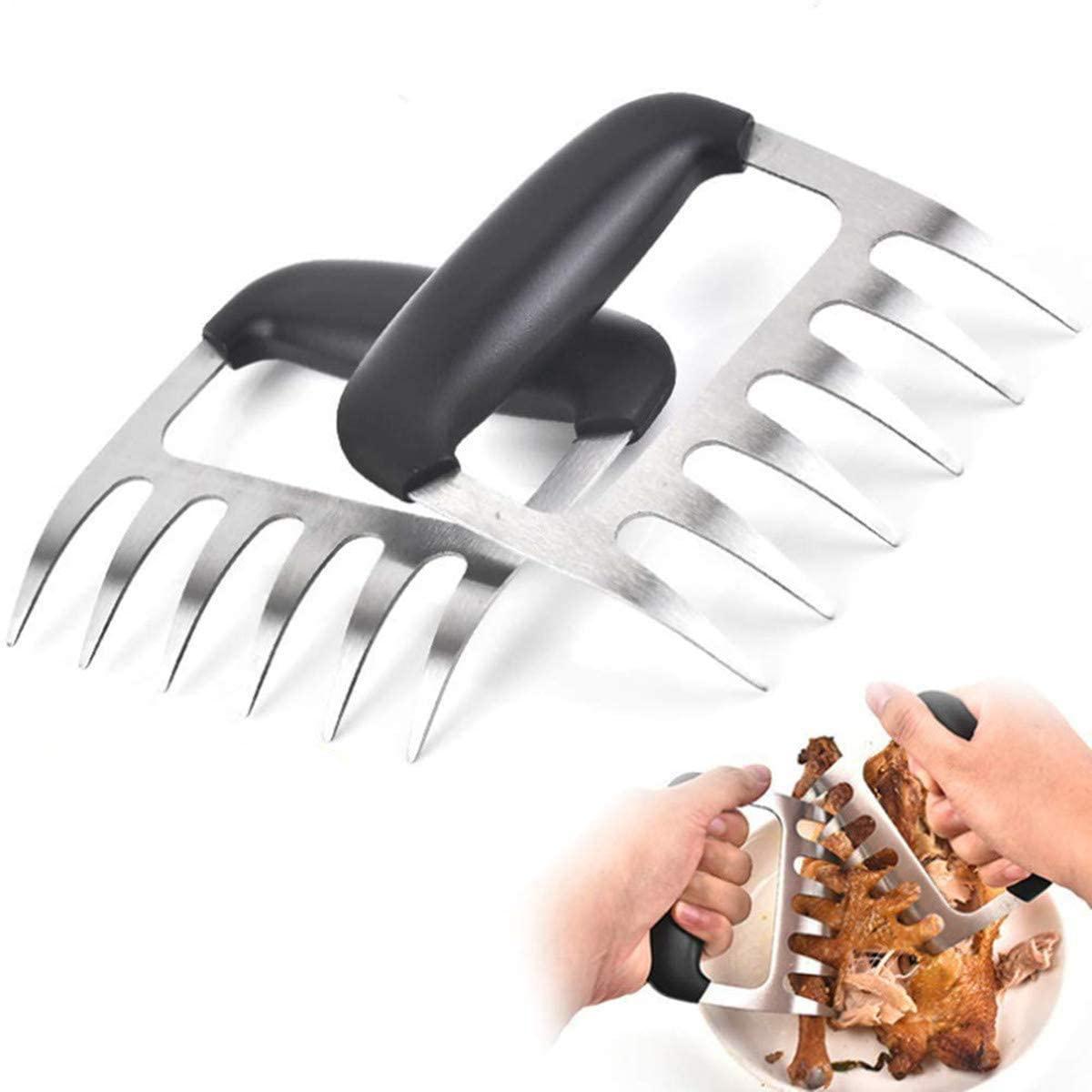 고기 발톱, 바베큐 곰 발, 끌어 당긴 돼지 고기 분쇄기 주방 도구 스테인레스 스틸 식품 학년 내열성 플라스틱 opp 패키지