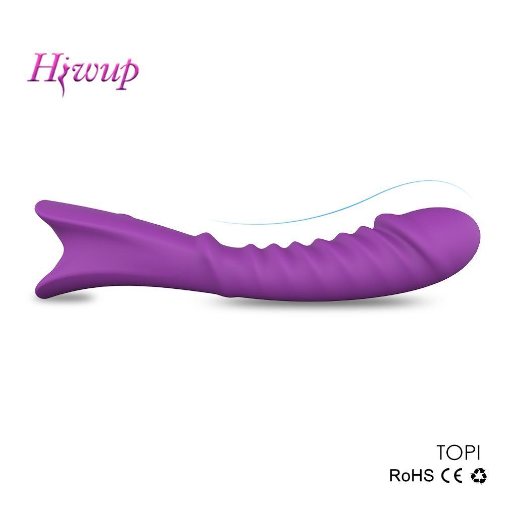 Dildón impermeable vibrador Juguetes sexuales para mujeres 9 Modos de vibración sólidos para la inserción sin esfuerzo La estimulación de clítoris LJ201222