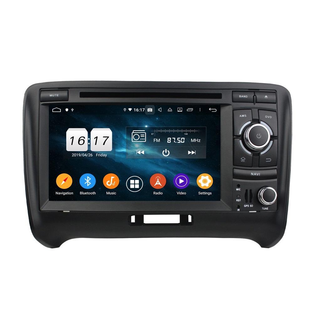 "4GB + 128GB 2 DIN 7 ""Audi TT 2006-2013 DSP Radio GPS 네비게이션 블루투스 5.0 WiFi Easy Connect 용 PX6 Android 10 자동차 DVD 플레이어"