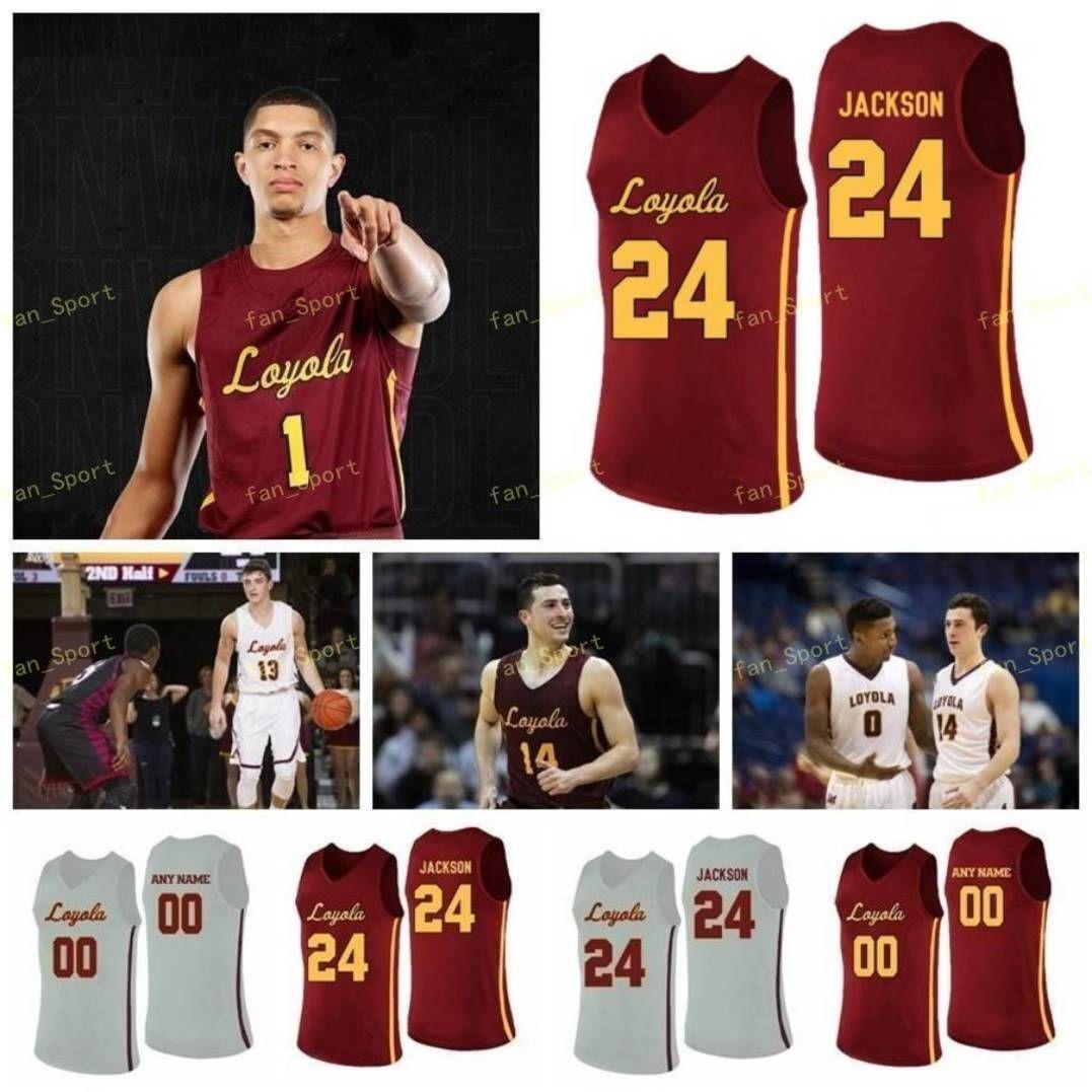 NCAA College Loyola Chicago Ramblers Basketball Jersey 23 Cooper Kaife 24 Aundert Jackson Tate Alcock Halle 25 Cameron Krutwig Custom genäht