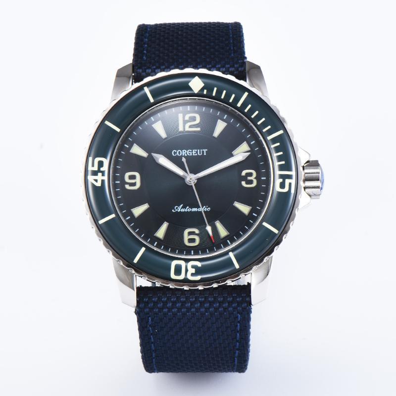 Corgeut 45mm Sport Design Reloj de lujo Top Marca MANOS LUMINOSOS MANOS MANOS AUTOMÁTICOS AUTOMÁTICO RELOJ DE RELOJ DE HOMBRES DE VINTAY
