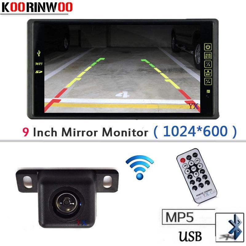 "Video de coches 9 ""LCD-TFT Monitor Player Bluetooth MP5 / MP4 FM Media USB SD Slot RCA Aparcamiento Vista posterior Vista trasera Reverso"