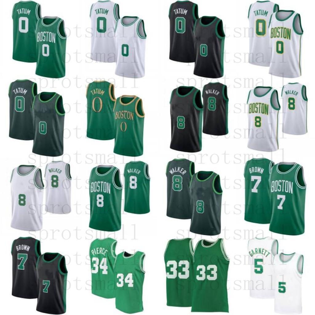 KEMBA 8 Walker Jayson 0 Tatum Jaylen 7 Braun Rondo Kevin 5 Garnett Paul 34 Pierce 20 Allen Basketball Jersey