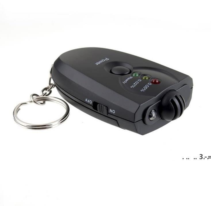 NewHight Sensitive Digital Tester Tester Diagnóstico Herramientas de diagnóstico Indicador LED de 3 pasos Alcoholímetro de respiración Portátil Función de antorcha EWF5522