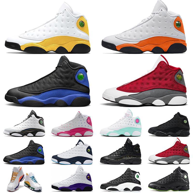 Retro Air Jordan 13 Zapatos de baloncesto 13s del Sol Hyper Royal Rojo Flint Dark Powder Blue Playground Black Cat Women Mujeres Deportes Zapatillas deportivas