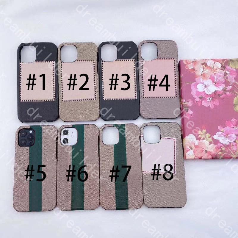 Designer Fashion Phone Custodie per iPhone 12 Pro Max 13 Case Mini 11 11Pro X XS XR XSMAX PU Shell Shell Samsung S20 S20P S20U Nota 10 20 20U con scatola