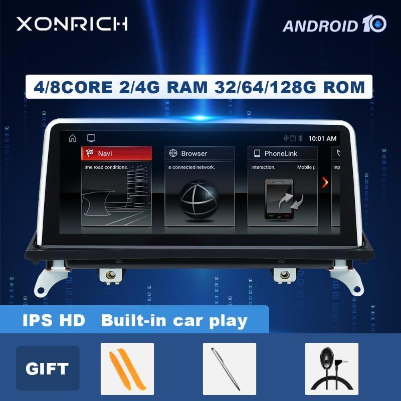 لاعب IPS 4GB + 128GB Android 10.0 Car DVD ل X5 E70 X6 E71 (2007-2013) نظام CCC CIC Autoradio GPS Navigation Carplay DSP