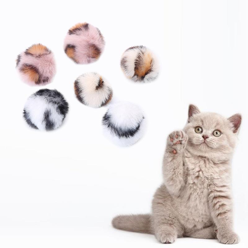 Круглый шаровой мех интерактивные игрушки для домашних животных собака красочные маленькие животные поставки играют на тренировку животных