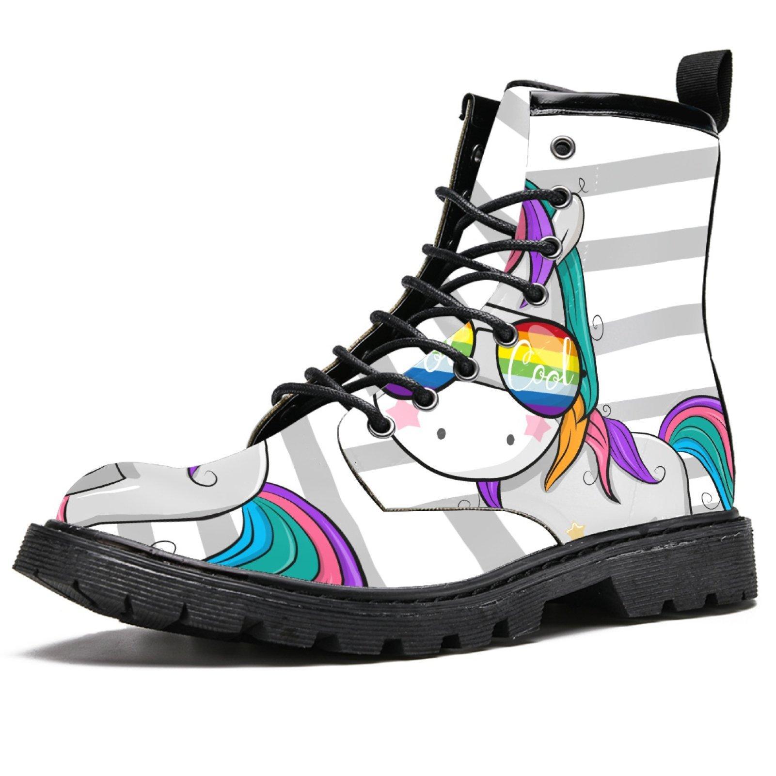 الفاخرة اليدوية الجلود عارضة الأحذية أعلى الفن حزب زوجين مارتن الأحذية 36-48 مع مربع