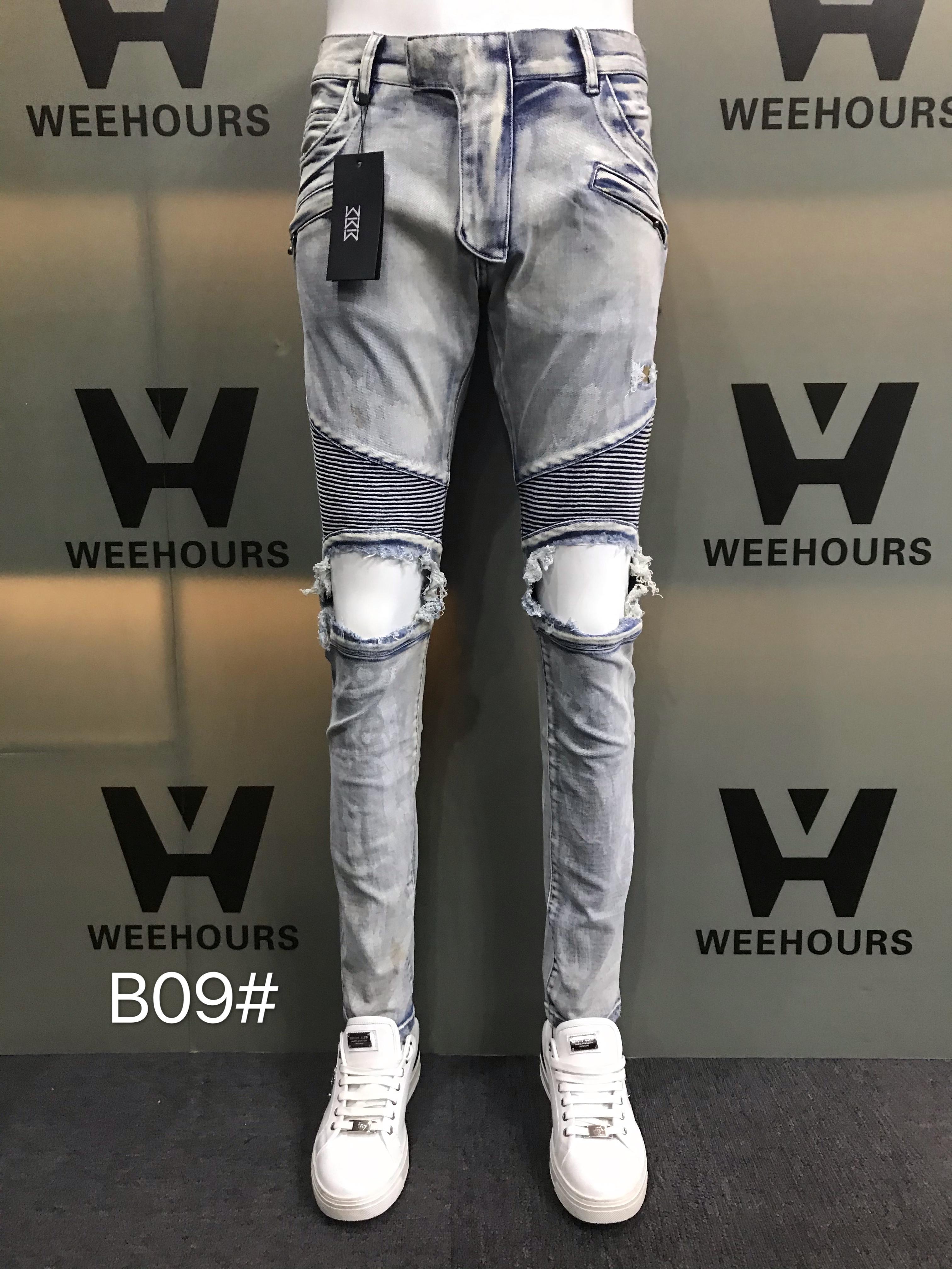 Calças de jeans casuais masculinos e casuais atualmente à venda designer de luxo B09-08
