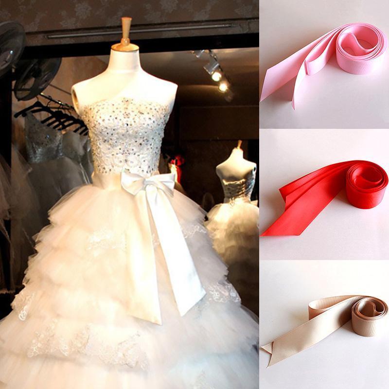 Simples cetim fita mulheres cintura nupcial vestido de casamento cinto longo diy curva cintura cintura cinta fêmea para cintos