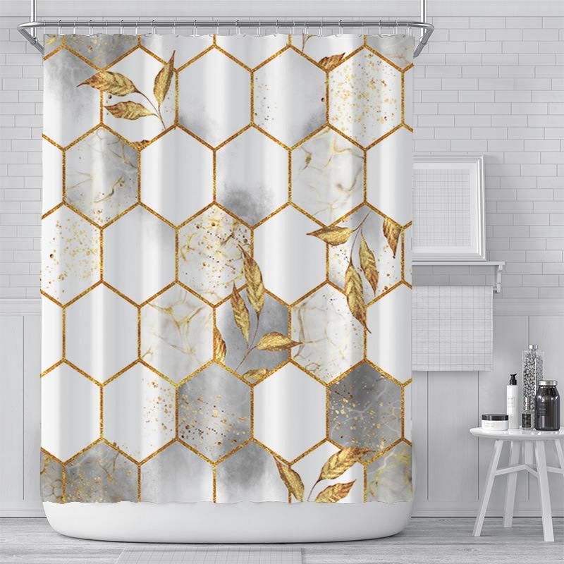 Nova Cortina Creative Digital Imprimindo Cortina Impermeável Poliéster Banheiro Curtain Sunshade Chuveiro Cortinas Personalização Atacado OOD5460