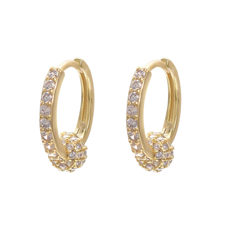 Yoursfs moda jóias 18k banhado a ouro brincos zircão mulher única aniversário presente de aniversário