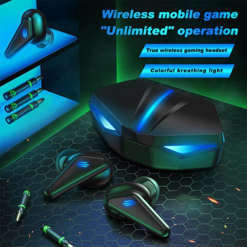 Dans Headsets de jeu à l'oreille 3D Son Bluetooth Bluetooth sans fil Ecouteurs Touch Control Casque Sport avec microphone pour écouteurs de jeu vidéo