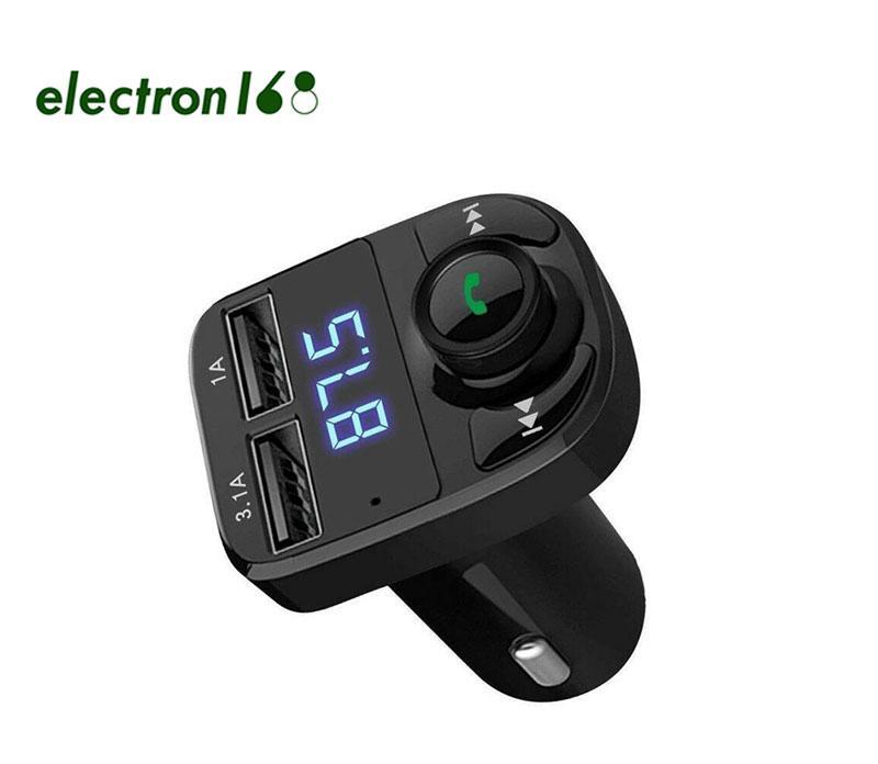 FM X8 Araç Şarj Verici AUX Modülatör Kablosuz Bluetooth Handsfree Evrensel Kiti Ses Çalar ile 3.1A Hızlı Şarj Çift USB
