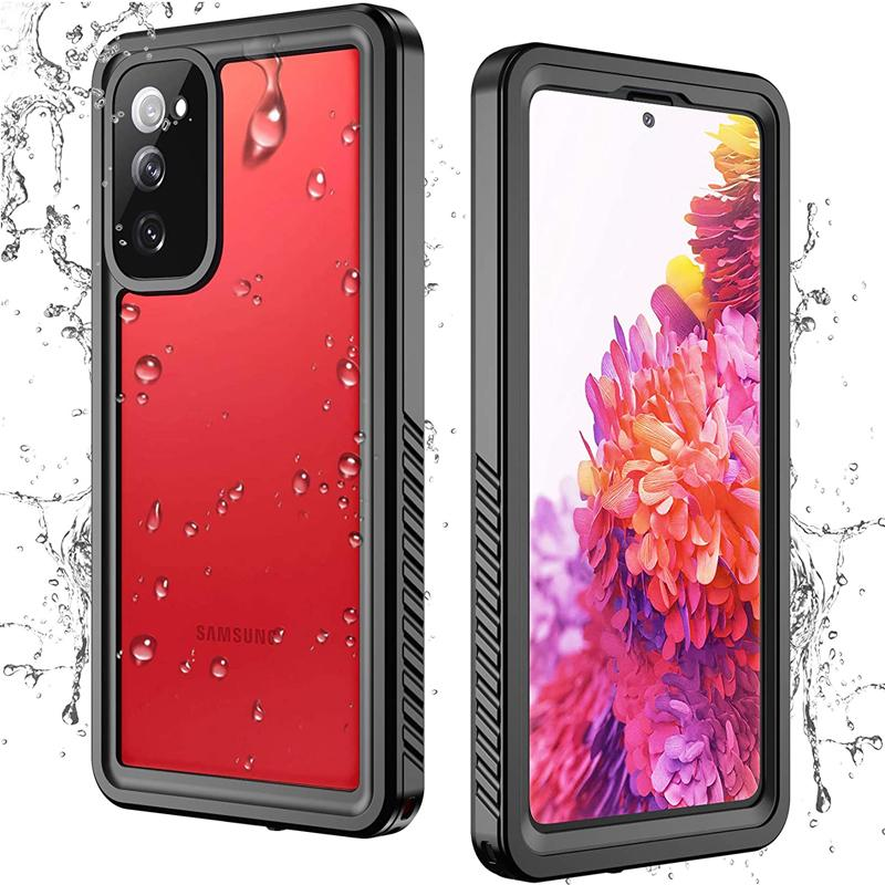 Redpepper FS Waterproof Cases Clear IP68 Built-in Screen Protector Dustproof Shockproof Cover For iPhone 12 Mini 11 Pro Max Samsung S10 S20 FE S21 Ultra