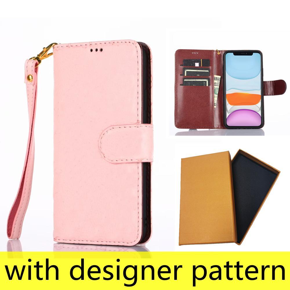 أزياء مصمم محفظة الحالات الهاتف لفون 12 11 برو ماكس xs XR XSMAX 7 8 زائد جودة عالية تنقش الجلود بطاقة الجيب غطاء الهاتف المحمول الفاخرة