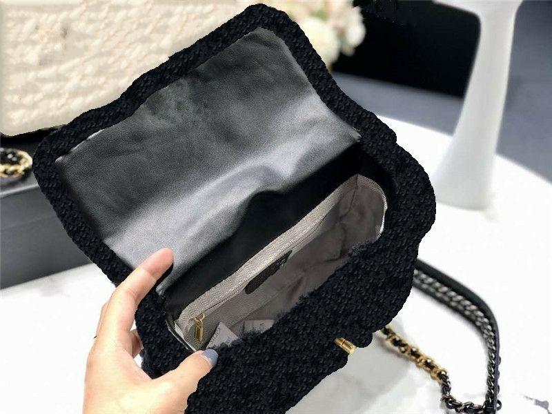 Frauen Luxurys Designer Flap 2021 Riemenketten Designer Plüsch Luxus Crossbodybag Petit Bag Zweifarbige Fuzzy Cashmere Taschen Cachemire 19ba Tanf