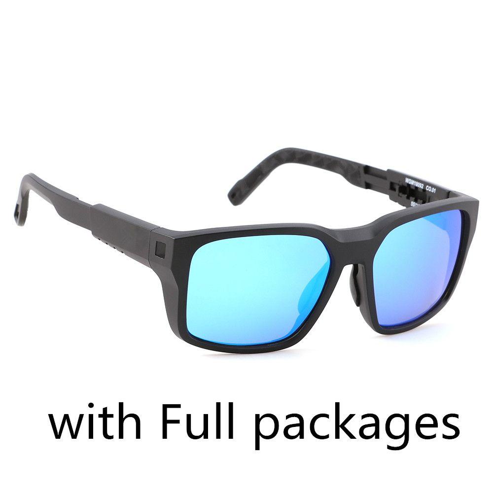 TR90 Polarisierte Sonnenbrille Männer Klassisches Quadrat Fahren Männliche Wanderer Stile UV400 Oculos 6 Farben 5 stücke Fabrikspreis mit Paketen