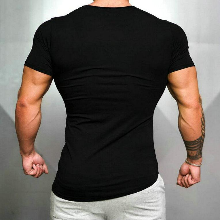 Hombres Primavera Sporting Top Jerseys Tee Shirts Summer Manga corta Fitness Tshirt Algodón para hombre Ropa deportiva T Shirt 1043