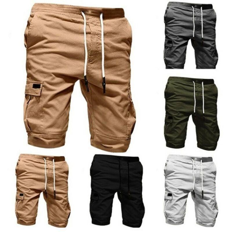 Hombres Summer Beach Short Shorts Casual Masculino Hombre Solid Boardshorts Alta Calidad Elástica Moda Corto M-XXL