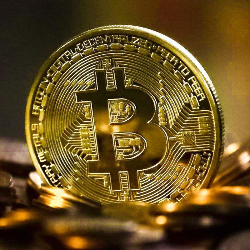 Bitcoin Coin BTC Key chain Coins Art original designer Souvenir Gold Plated Collectible Gift Creative Bit Ethereum Litecoin Collection Physical Commemorative USA