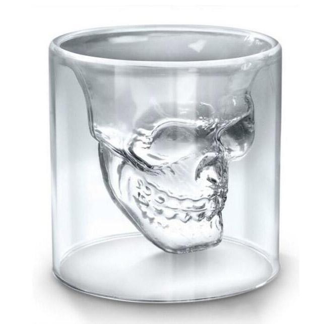 25 ملليلتر 70 ملليلتر 70 ملليلتر 150 ملليلتر 250 ملليلتر النبيذ كأس الجمجمة الزجاج النار الزجاج البيرة ويسكي هالوين الديكور الإبداعية شفافة drinkware الشرب نظارات FY4501