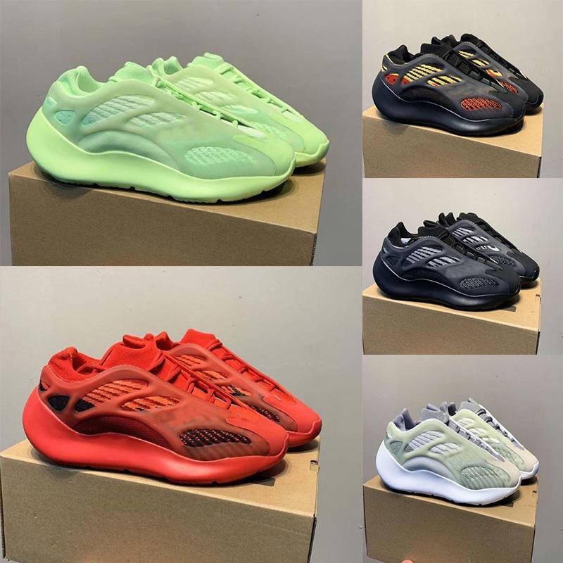Novo Hot Kanye West Foam Runner 700es V3 Sneakers Masculino Feminino Kanyewest Fashion 700V3 Sapatos Esportivos Branco Esqueleto Sapatos ao ar livre