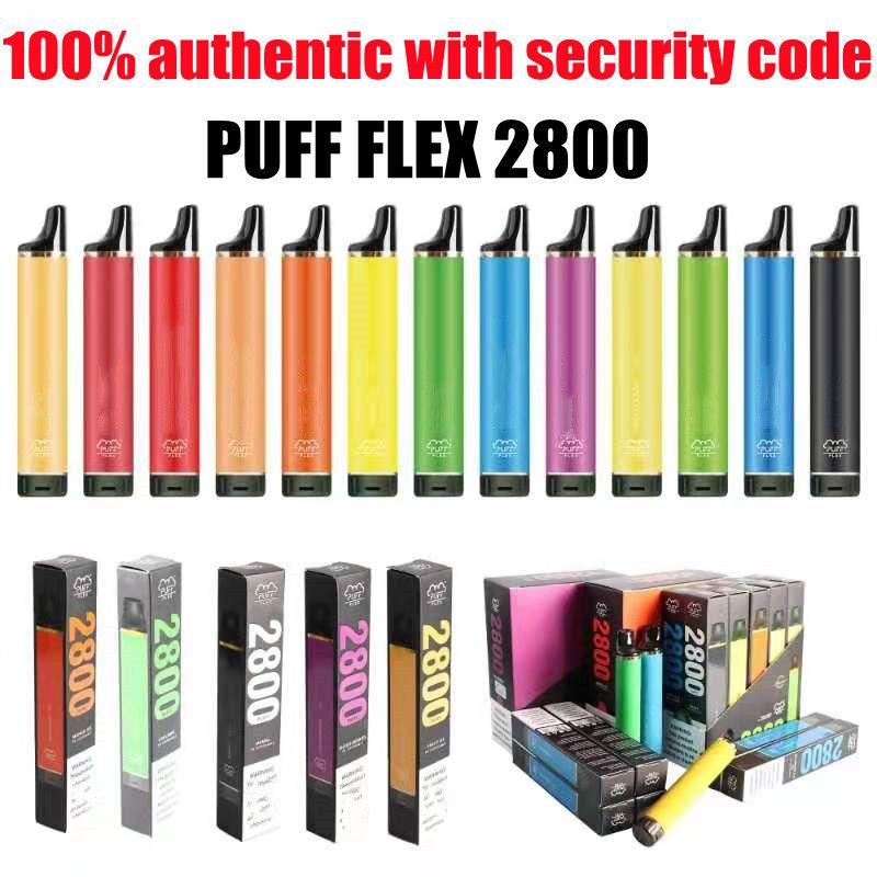100% auténticos cigarrillos Barras flexibles Barras Vapas desechables Kits de dispositivo 2800 Puffs PRELILLADA 10ML 850MAH BATERÍA VS FLOW XXL VAPES PLUS MAX HYDE10