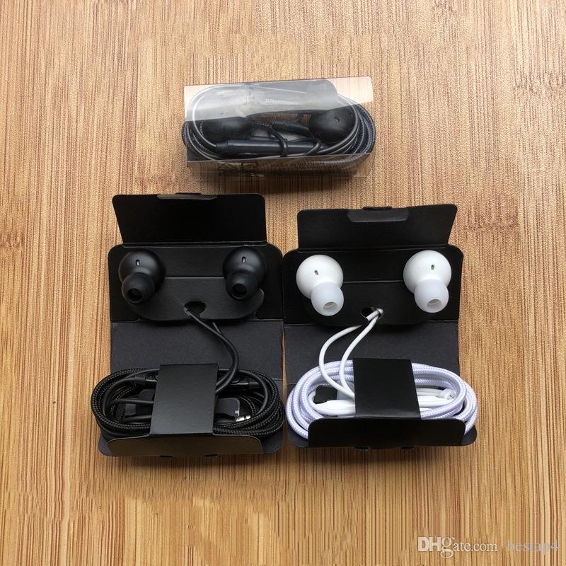 최신 100 % OEM 품질 이어폰 이어폰 3.5mm 스테레오 헤드셋 이어 버드 S10 S9 S10E S10E S10E S10E S10E 용 원격 제어 마이크가있는 헤드폰 헤드폰
