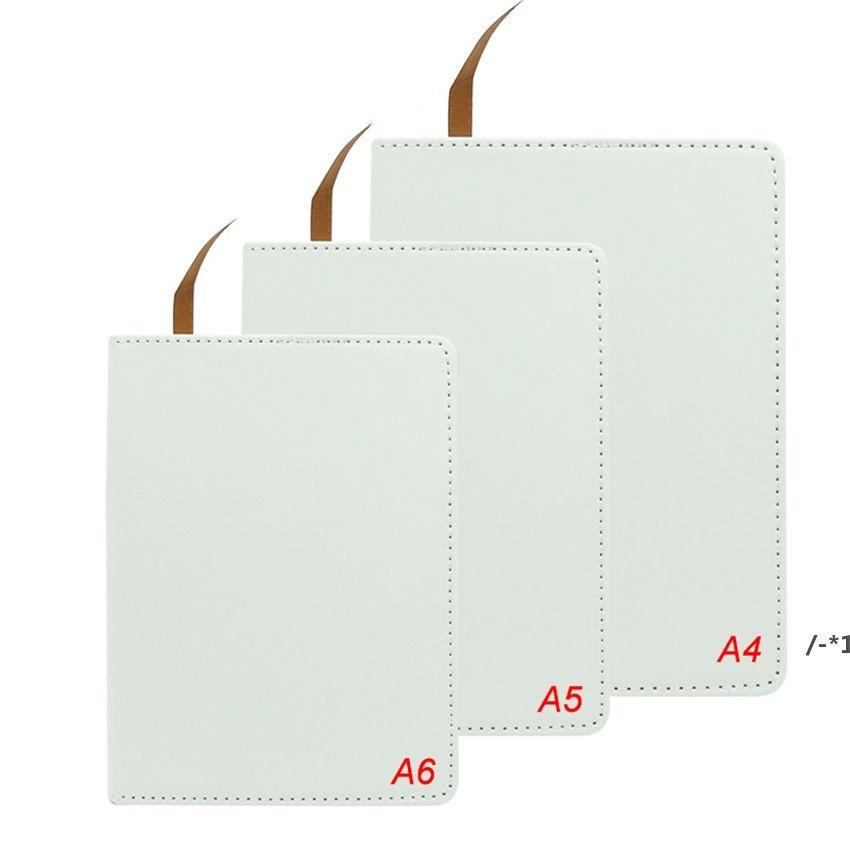 Notizbücher A6 Sublimationszeitschriften mit doppelseitigem Klebeband Thermal Transfer Notebook DIY Weiße Blanks Faux Sea Shipping NHB8415