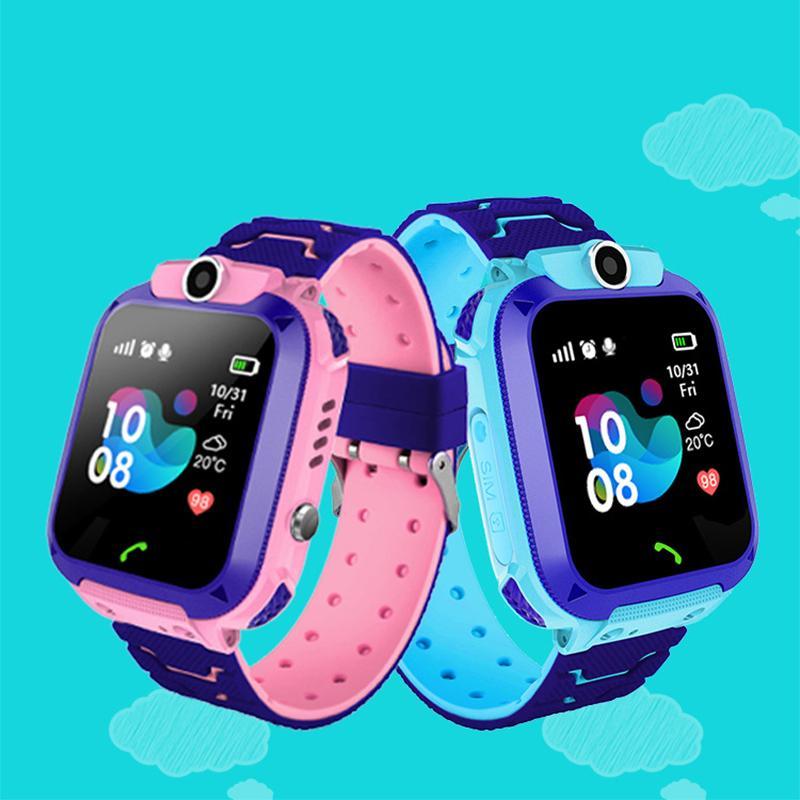 Q12 الأطفال الساعات الذكية 1.44 بوصة شاشة ملونة دعم بطاقة SIM ماء الاطفال SmartWatch ل Apple Android بالجملة