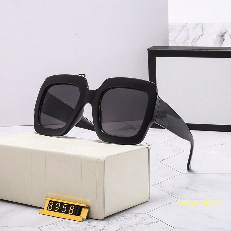 Luxurys Designers sunglasses for women and men Oversize rectangular 8958 fashion driving mirror lenses classic shopkeeper's recommendation elegant UV400 top