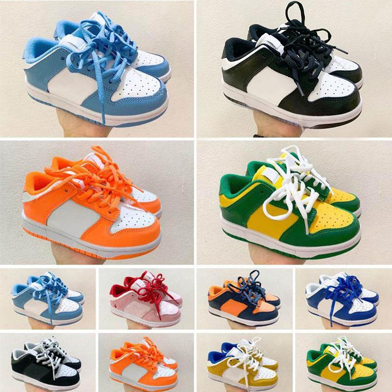 Top quality Chunky DunkS SB Kids Running Shoes Boys Girls Casual Fashion Sneakers Athletic Children Walking toddler Sports Trainers Eur 26-35