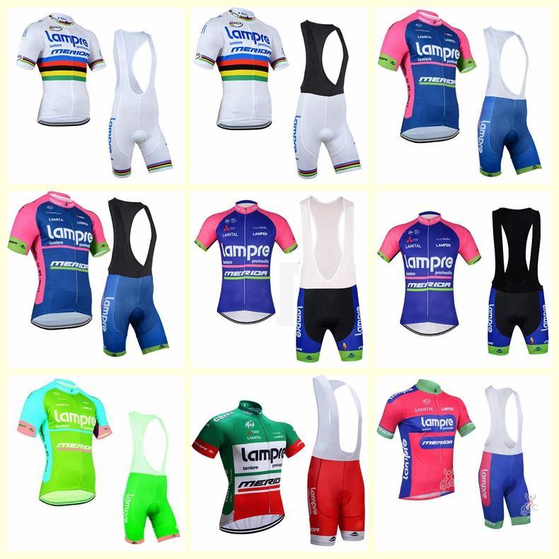 Lampre equipe ciclismo mangas curtas jersey (bib) shorts conjuntos de roupas roupas de bicicleta verão ciclismo ropa hombre maillot sportwear b613-11
