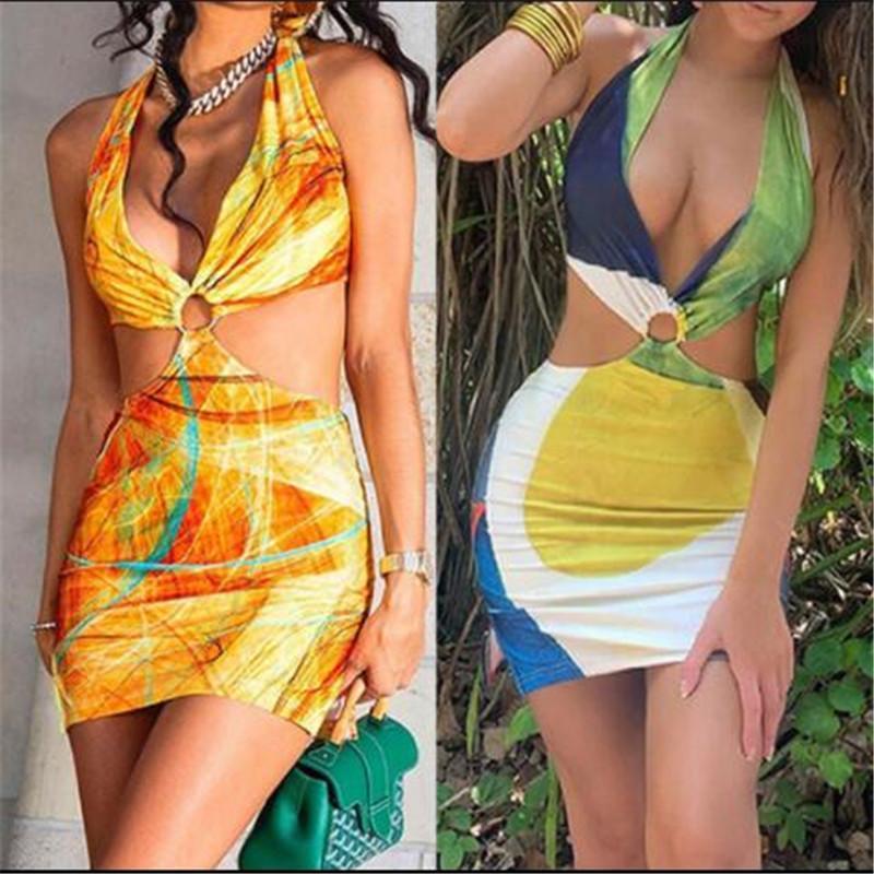 Damen Halter Spitze Tief V ärmellosen sexy Strumpfhosen Niedrig geschnittene Tasche Hüftkleid Stilvoller und eleganter Badeanzug für Sommer-Badebekleidung