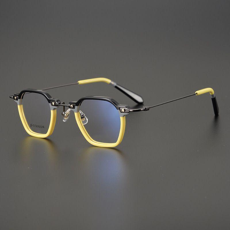 Moda Güneş Gözlüğü Çerçeveleri Marka Tasarımcısı Asetat Titanyum Gözlük Çerçevesi Erkekler Yüksek Kalite El Yapımı Gözlük Kadınlar Süper Hafif Büyük Miyopi